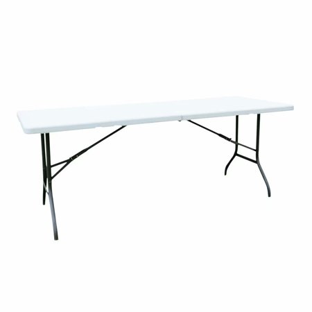 Voomwa Mainstay 6'Folding Table Off White For Outdoor