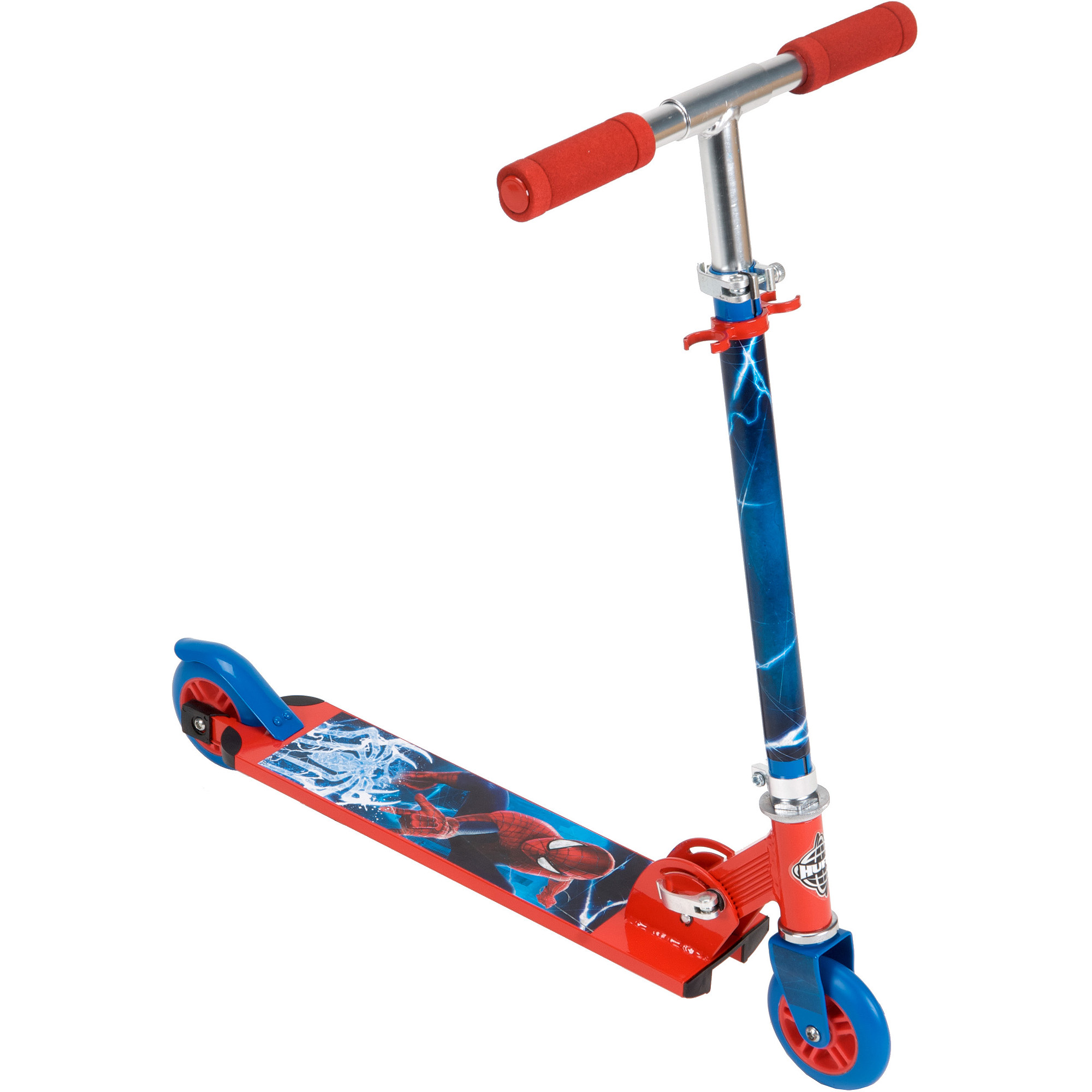 Marvel Ultimate Spider Man Boys 2 Wheel Inline Scooter By Huffy