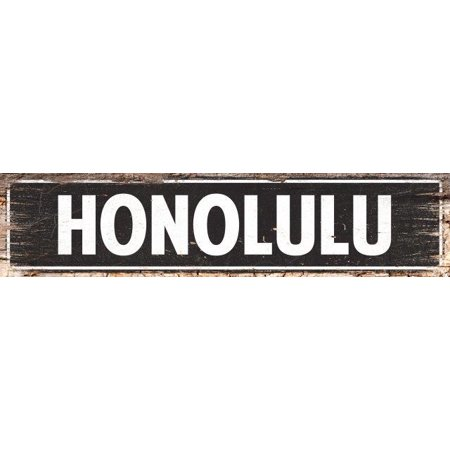 HONOLULU Street Plate Sign Bar Store Shop Cafe Home Kitchen Decor (Outlet Store Honolulu)