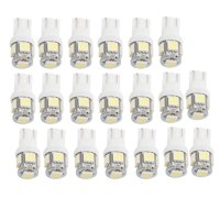 Unique Bargains 20x LED T10 Wedge 5-SMD 5050 Light Bulbs Super White W5W Bulb 12V