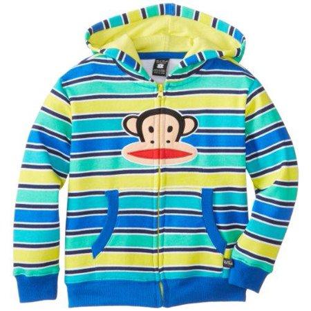Paul Frank Little Boy's Kids Striped Julius Logo Zip Up Sweater -