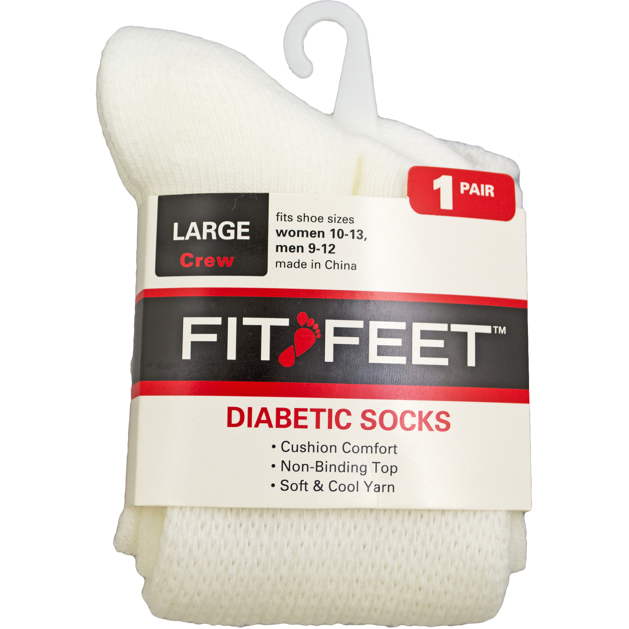 Medipeds Fit Feet Diabetic Sock 1 Ct