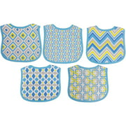 Making Miracles 5-Pack Terry Knit Bibs, Blue