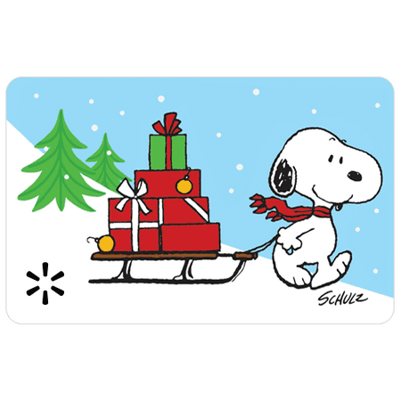 Snoopy Sleigh Walmart Gift Card ()