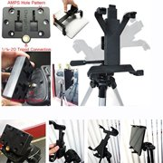 """Accessory Basics Tablet Tripod Mount for Apple iPad 2 3 4 Air Mini Samsung Galaxy Tab Microsoft Surface Asus VivoTab 7"""" 8"""" 9"""" 10"""" Screen Tablet (Holder only, Tripod is not included)"""