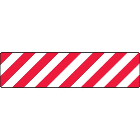 "Accuform PSD101 5S / Lean Workplace Organization Floor Tapes & Marking RED/WHITE STRIPES 6"" x 24"""