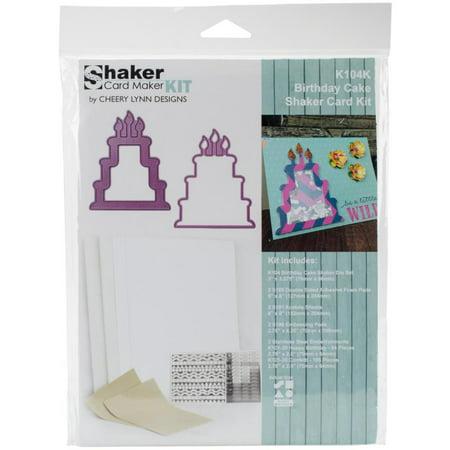 Cheery Lynn Designs Shaker Card Making Kit Birthday Cake