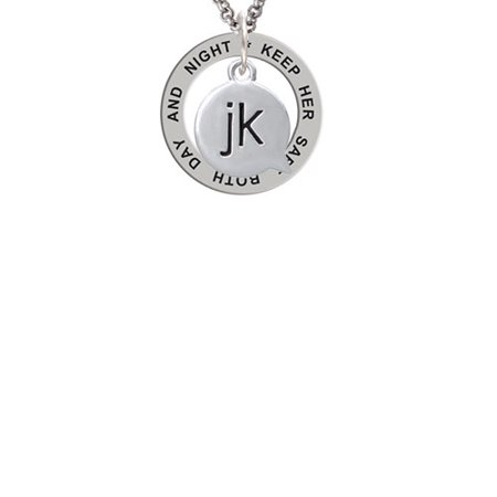 Text Chat   Jk   Just Kidding   Keep Her Safe Both Day And Night Affirmation Ring Necklace