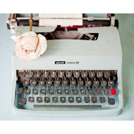 Back In Time Blue Typewriter Poster Print by  Susannah Tucker Photography (20 x 24) ()
