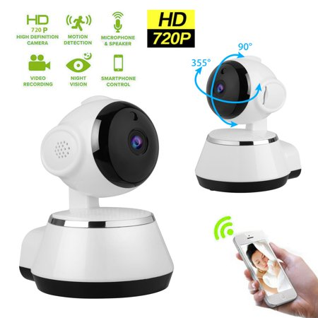 720P HD Dome 360°WiFi IP Camera, EEEkit Wireless Baby Monitor Safety Security Surveillance IP Cam, Mini WiFi monitor IP camera smart home security system, for Baby Pet Android iOS apps, Night Vision ()