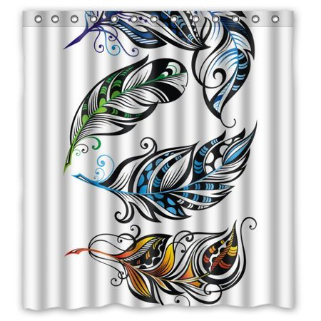 BPBOP Peacock Shower Curtain 66x72 Inches