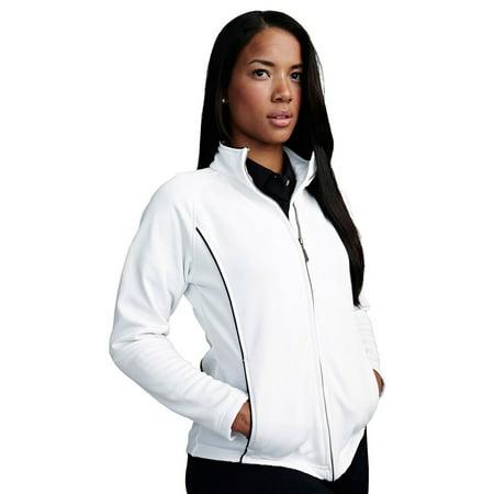 Tri-Mountain Women's Pique Contrast Piping Fleece Jacket