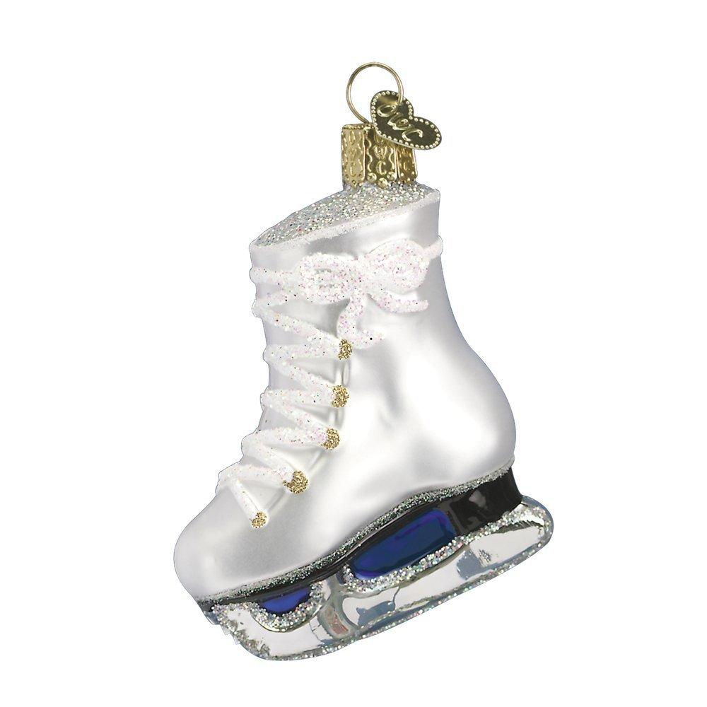 winter ice skate glass blown hanging christmas ornament - Walmart.com