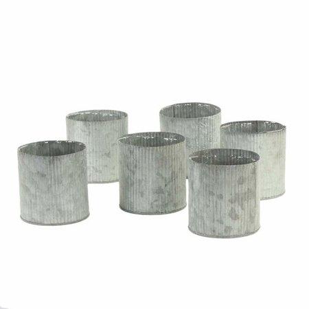 Gracie Oaks Vennie Corrugated Zinc Table Vase (Set of 6)