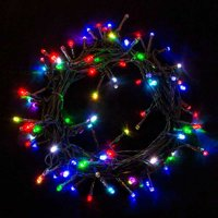 ALEKO 2EL100LEDCCRGB Electric Extendable String Lights - 100 LED - 34 Feet - Multicolored - Set of 2