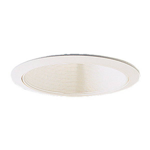 6 in. White Stepped Baffle with White Trim, Nora NTM-31