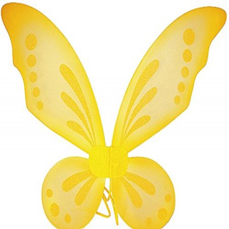 Yellow Pixie Fairy Wings Tinkerbell Princess Tutu Dress up Costume