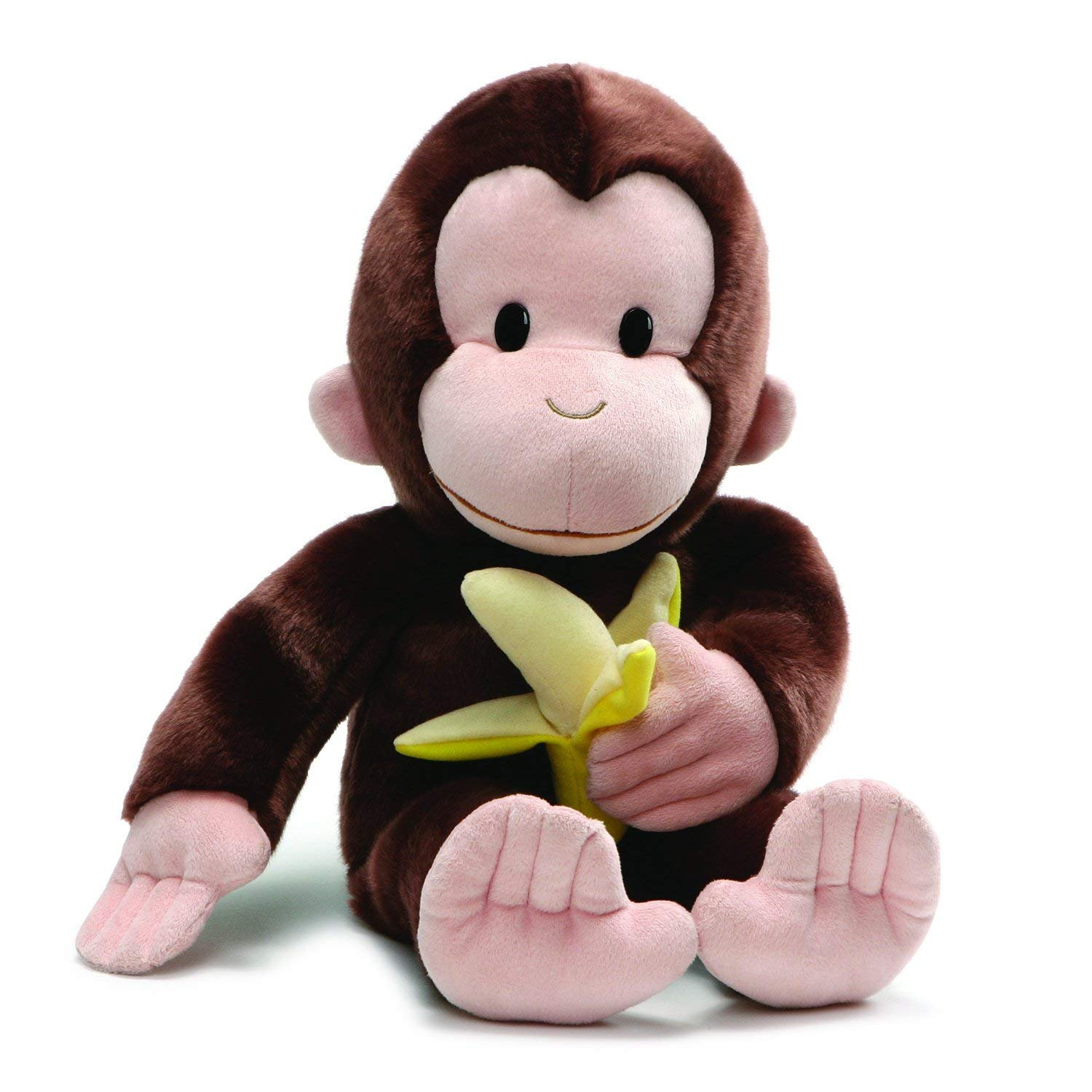 GUND 4061282 Curious George with Banana Plush Stuffed Animal, 20�, Brown by Gund