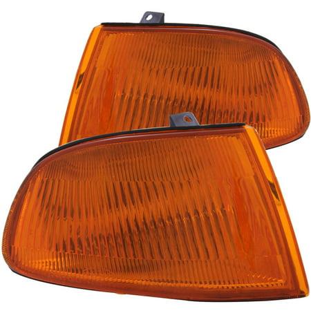 ANZO Corner Lights 1992-1995 Honda Civic Euro Corner Lights Amber ()