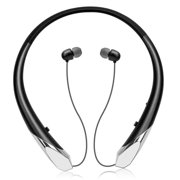 EEEKit Bluetooth Headphones, Wireless Bluetooth V5.0 Neckband Headset Retractable Earbuds HD Stereo Noise Cancelling Earphones with Mic, Call Vibrate Alert,15 Hrs Playtime