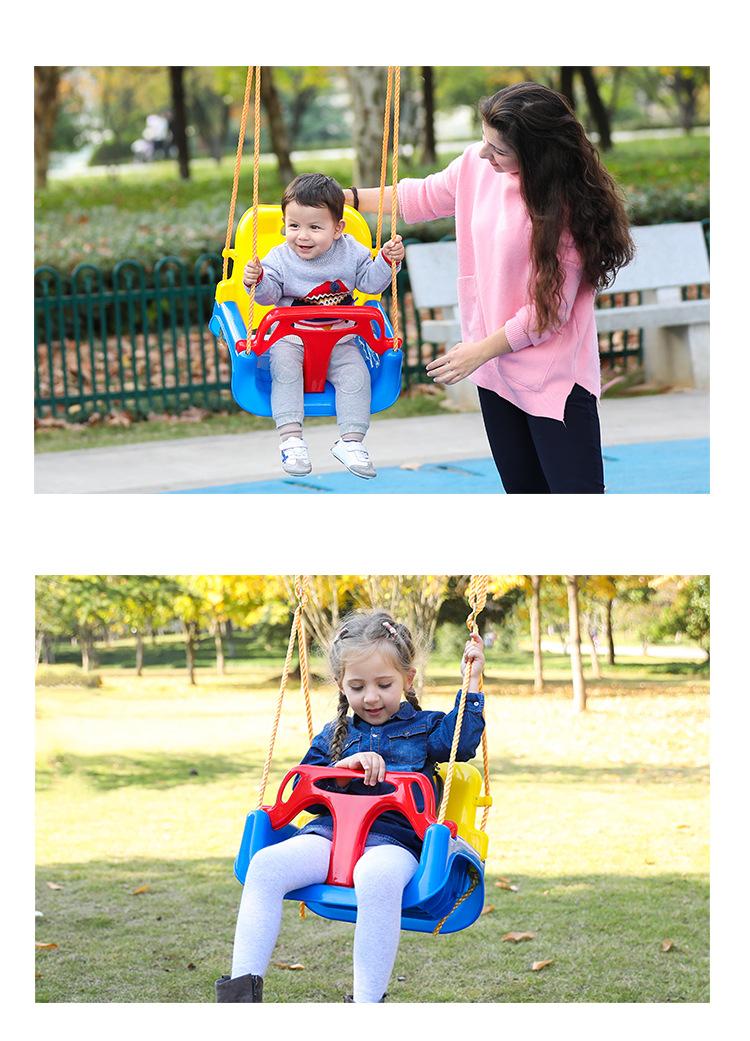 3 in 1 Swing Set Baby Toddler Swing Seat Chidren Tree Hanging Swing Seat by Night-life