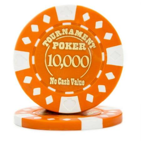 Texas Holdem Tournament Software - Poker Chips, Pack Of 25 Texas Holdem Tournament Quality Poker Chips, Orange
