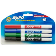Expo Low-Odor Dry Erase Markers, Fine Point, Assorted Colors 4 ea (Pack of 3)