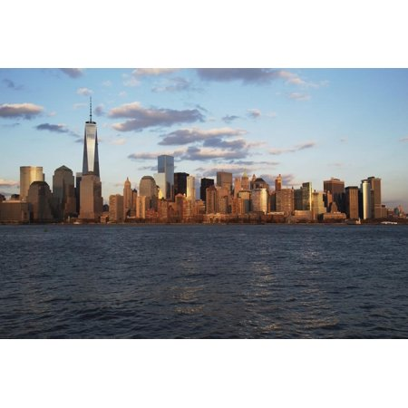 Panoramic View of New York City Skyline on Water Featuring One World Trade Center (1Wtc), Freedom T Print Wall Art By Joseph (New York Skyline One World Trade Center)