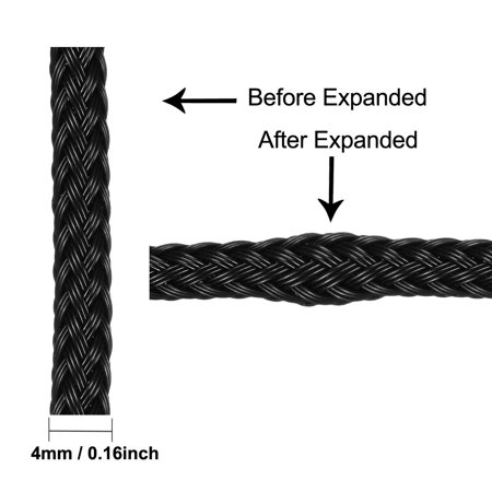 4mm Dia PET Electric Cable Wrap Expandable Braided Sleeving 10 Meters Length - image 2 of 5