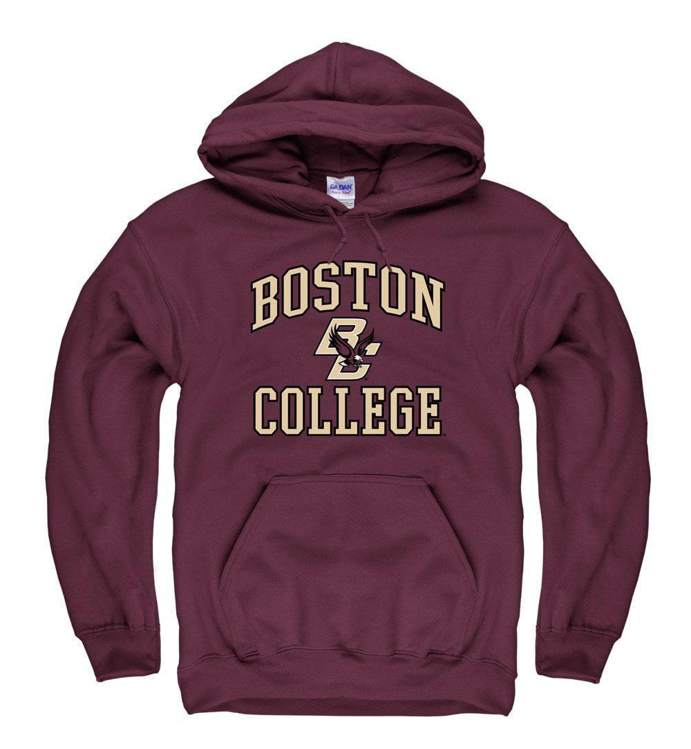 Boston College Eagles Men's Pull Over Hoodie Sweatshirt-Maroon