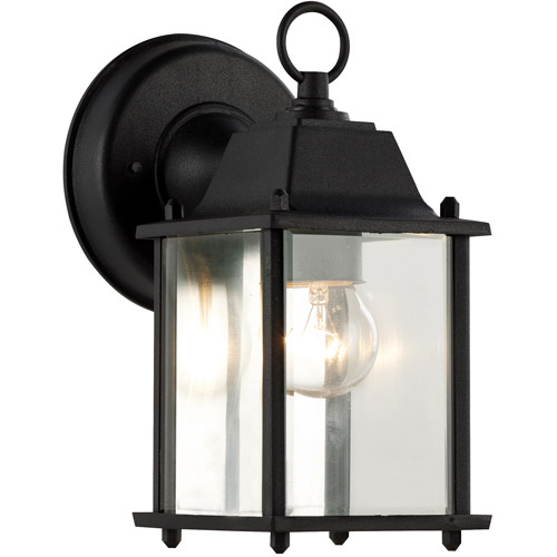 "BelAire Glass Door 8"" Patio Light, Black"