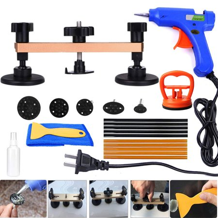 Pops a Dent Puller Bridge Paintless Dent Removal Remover Repair Tools Kit for Auto Body Motorcycle Refrigerator Washing Machine (Dent Repair Removal Auto Body)