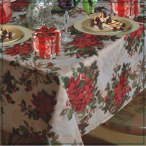 Genial The Holiday Aisle Providence Poinsettia Tablecloth   Walmart.com