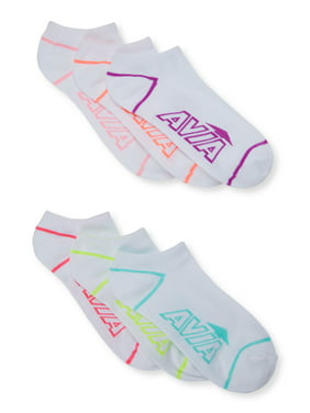 Avia Womens Super Softt No Show Socks, 6-Pack