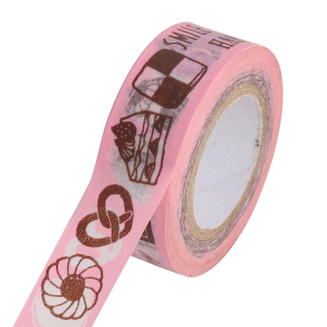 Dessert Pattern Scrapbooking DIY Craft Decorative Washi Masking Tape Roll