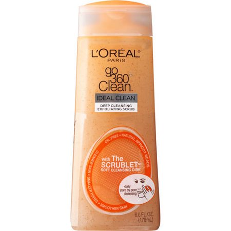 Loreal Paris Go 360 Clean Deep Exfoliating Scrub with Scrublet Soft Cleansing Disk, 6.0 Fl Oz