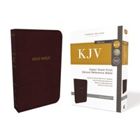 KJV, Deluxe Reference Bible, Super Giant Print, Imitation Leather, Burgundy, Red Letter Edition