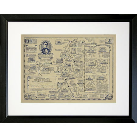 Buy Art For Less Map of Abraham Lincoln