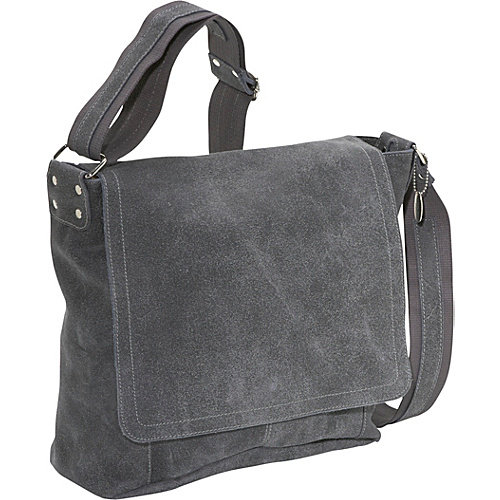 David King & Co. Vertical Simple Distressed Leather Messenger Bag