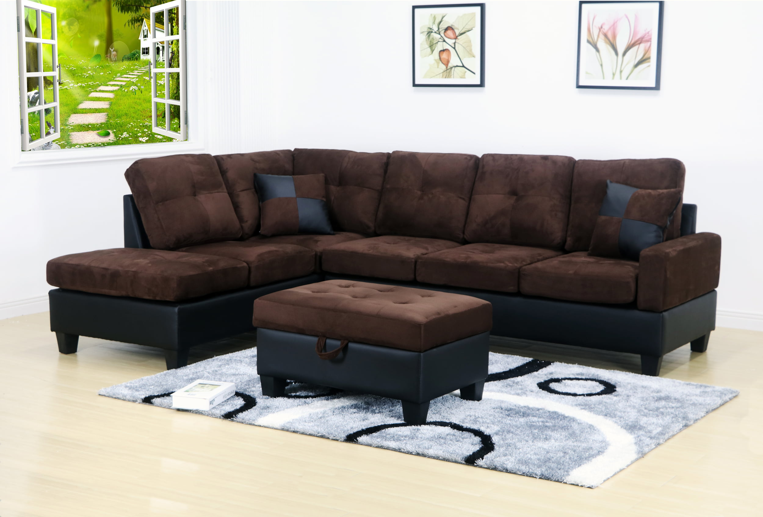 LexMod Waverunner Modular Sectional Sofa in Light Gray Walmart