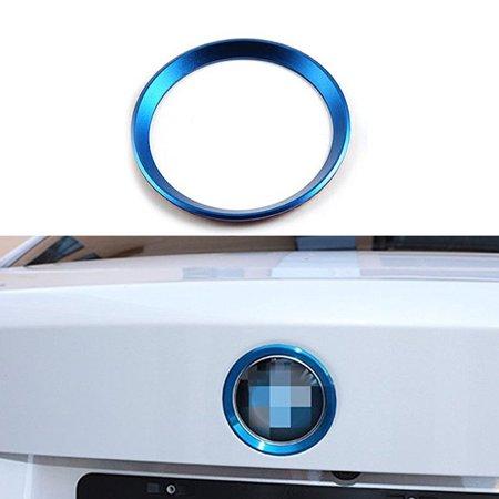 Xotic Tech 1 x Car Front Hood Rear Trunk Logo Emblem Surrounding Ring for BMW 2 3 4 M Series, Auto Exterior Decoration, Blue 75mm/ 3