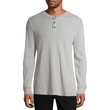 George Men's and Big Men's Long Sleeve Thermal Henley, up to Size 5XL