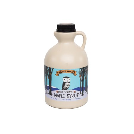 Grade A Dark Maple Syrup - 1 Quart (32 oz) Vermont Maple Syrup from Barred Woods Maple -  Former Grade B