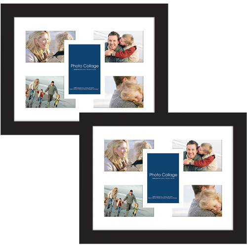 Collage Picture Frames, 12x16, Black, Set of 2 by MCS