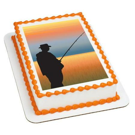Fishing Edible Cake Topper Image