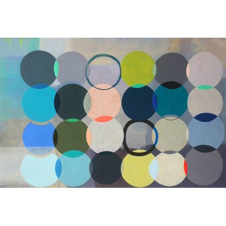 Abstract Space Art (All of Space Is Completely Silent Contemporary Abstract Circles Print Wall Art By Naomi Taitz Duffy )