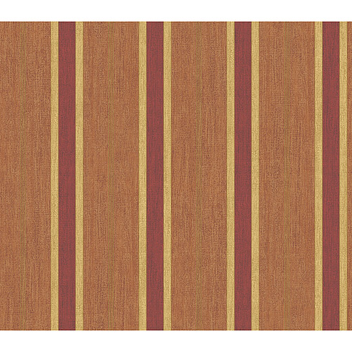 Blue Mountain Contemporary Stripe Wallcovering, Burgundy and Beige