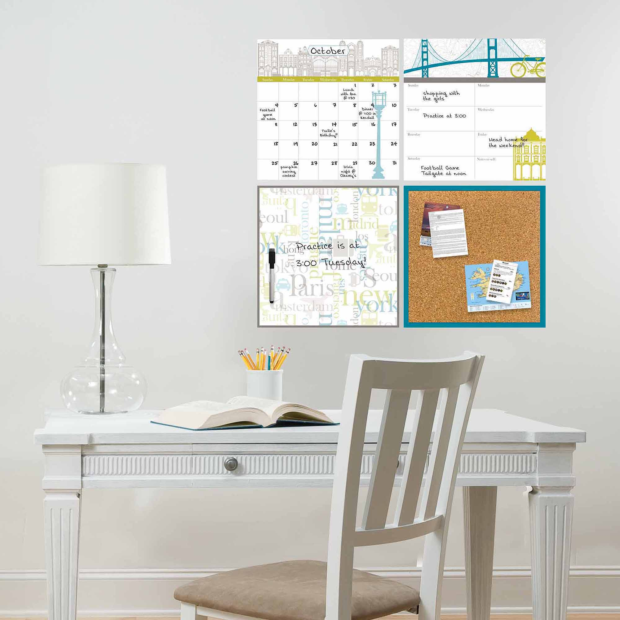WallPops Globe Trotter Organization Decals Kit