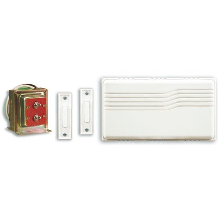- Heath-Zenith Wired Doorbell Kit with Mixed Push Buttons
