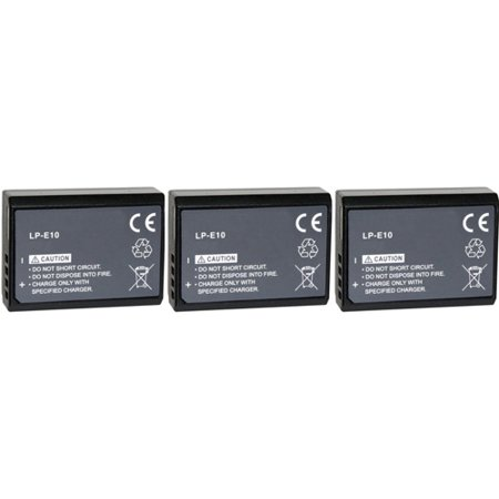 Replacement Battery for Canon LP-E10 (3-Pack)